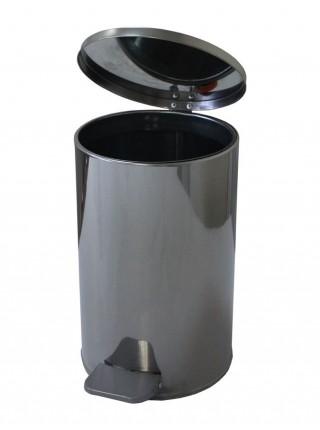 Ведро с педалью 10 литров (хром)