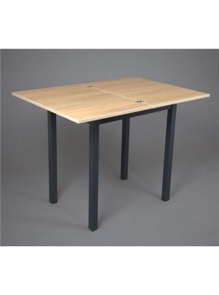 ДЖАЗИ Стол раскладной 50(100)х70 см, Дуб/ Черный