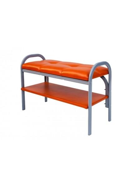 Скамейка с полкой для обуви Практик-7 (Порту-7/Оранжевый)