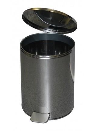 Ведро с педалью 15 литров (хром)