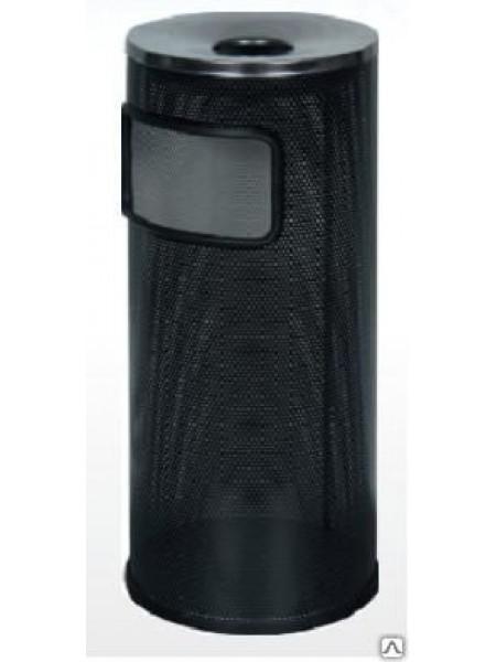 Корзина для бумаг с пепельницей К 250 перфорированная (Черный)