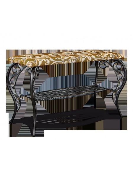 Банкетка Грация 685 металл/гобелен (черный/Катерина)
