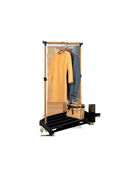 Стойка для одежды 4345 Sheffilton (металл-пластик/черный-светлый орех)