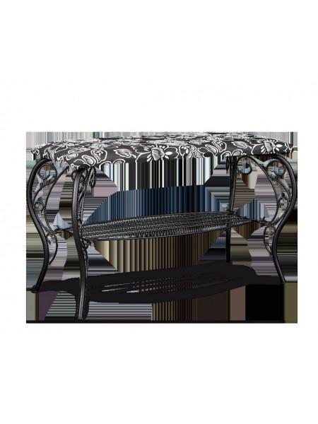 Банкетка Грация 685 металл/гобелен (черный/Зарина)