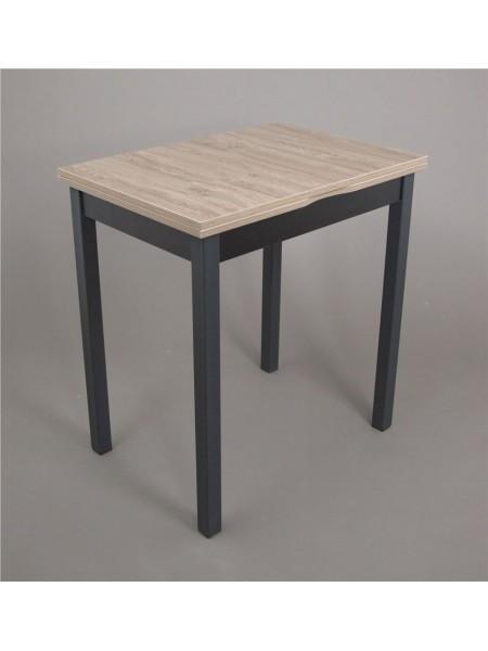 ДЖАЗИ Стол раскладной 50(100)х70 см, Дуб серый/Черный