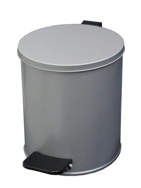 Ведро с педалью 7 литров (серый)