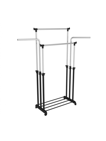 Стойка для одежды SHT WR-6 Sheffilton (металл-пластик/черный муар/хром)