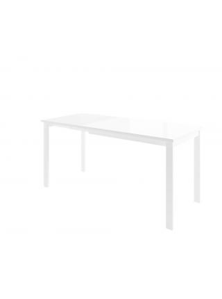 ГАББИ Стол раздвижной со стеклом 100(163)х70 см, Белый/Белый