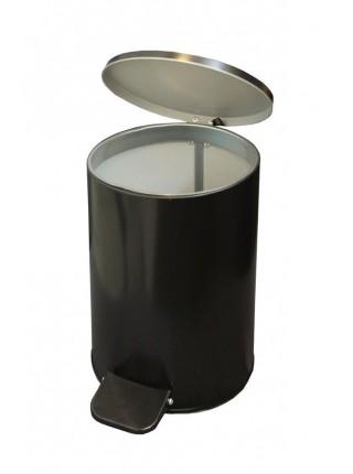 Ведро с педалью 10 литров (черный)
