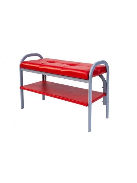 Скамейка с полкой для обуви Практик-7 (Порту-7/Красный)