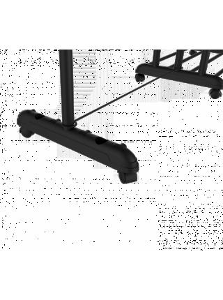 Стойка для одежды SHT WR-8 Sheffilton (металл-пластик/черный муар/хром)