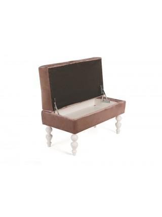 Банкетка Виктория (эмаль белая / 24 - розовый)