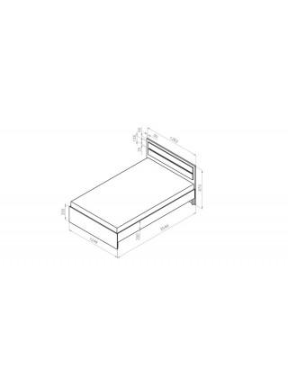 Кровать без основания Sanvut Виола МВ12