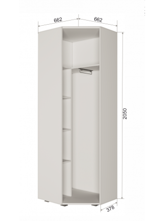 Шкаф угловой без зеркала Пайн ПП6