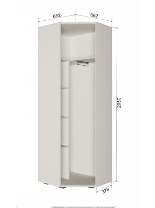 Шкаф угловой с зеркалом Пайн ПП7