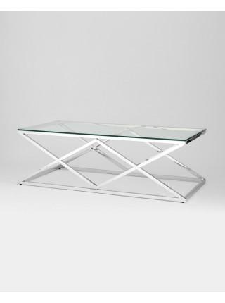 Журнальный стол 120*60 ИНСИГНИЯ серебро