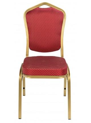 Банкетный стул Квадро 25 мм - золотой, красная корона