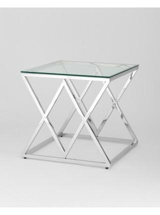 Журнальный стол 55*55 ИНСИГНИЯ серебро
