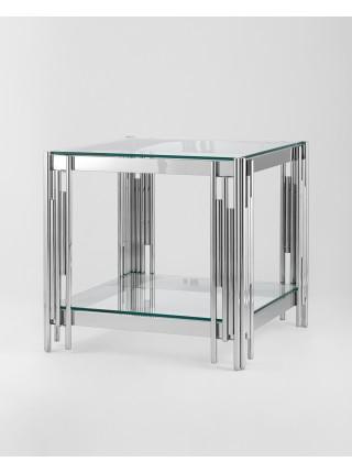 Журнальный столик 55*55 ГЭТСБИ серебро