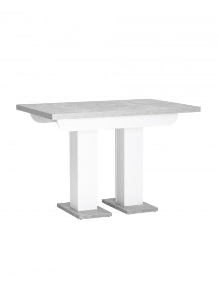 Стол Clyde 110-168*75 бетон/белый