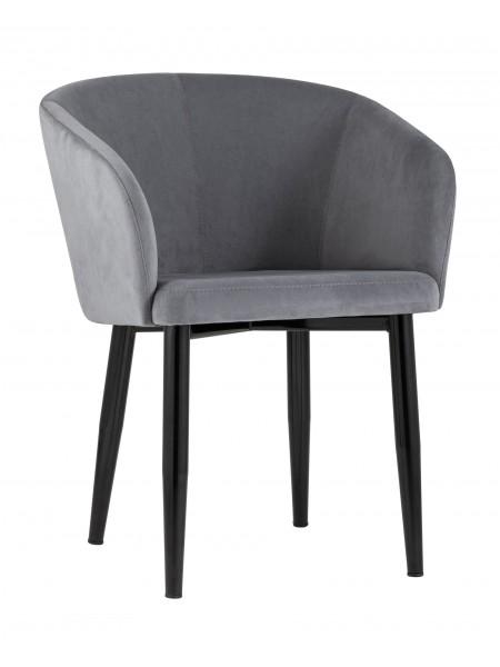 Кресло Ральф велюр серый