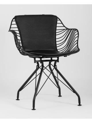 Кресло Thomas черное с черной подушкой