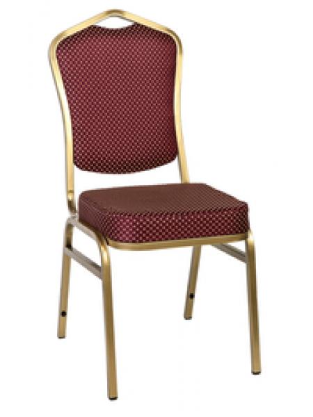 Банкетный стул Квадро 20мм (базовый) – золотой, красная корона