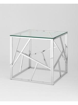 Журнальный столик 55*55 АРТ ДЕКО серебро