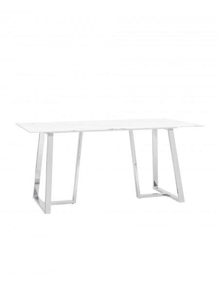 Стол обеденный Даллас 160*90 белый стеклянный
