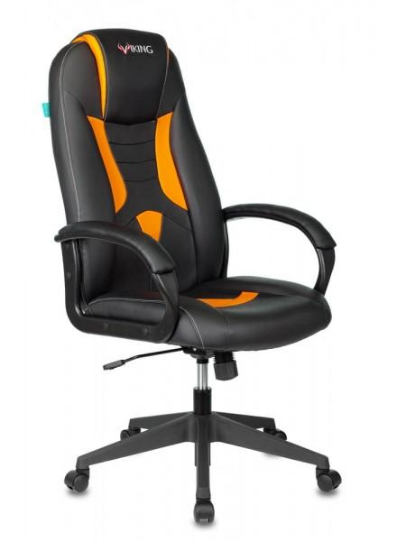 Кресло игровое Бюрократ VIKING-8N/BL-OR черный/оранжевый искусственная кожа