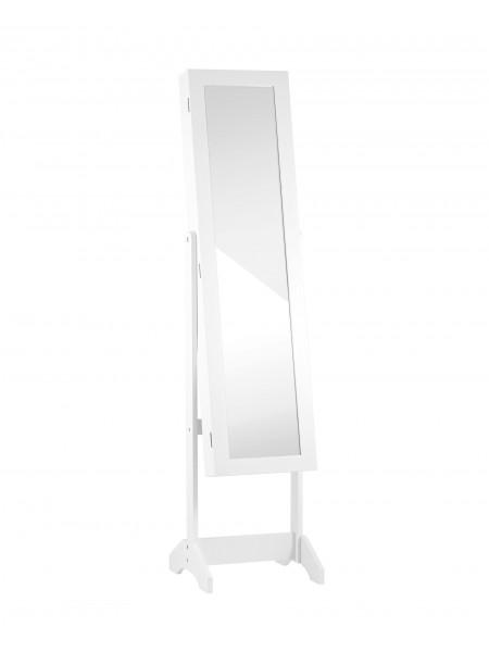 Зеркало-шкаф напольное Godrick для украшений белое