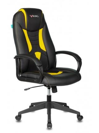Кресло игровое Бюрократ VIKING-8N/BL-YELL черный/желтый искусственная кожа