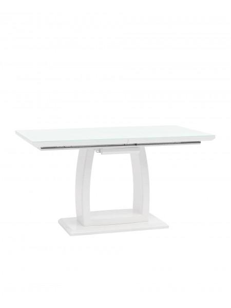 Стол обеденный Орлеан раскладной 140-170*80 глянцевый белый