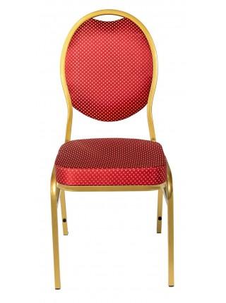 Банкетный стул Квин 20мм - золотой, красная корона