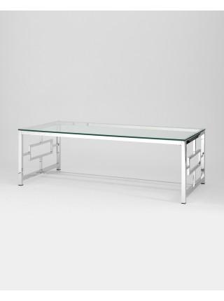 Журнальный стол 120*60 БРУКЛИН серебро