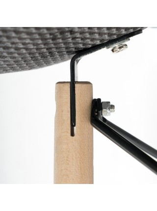 Кресло Secret De Maison CINDY SOFT (EAMES) (mod. 101) дерево береза/металл/мягкое сиденье/ткань, 62x64.5x80см, мультицвет