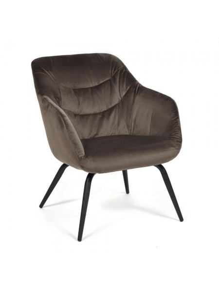 Кресло DREIFUS (mod. DM4284) металл, ткань, 66*74.5*82, коричневый (37-brown)
