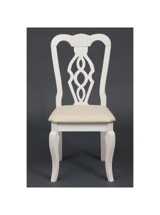 Стул - Афродита/ Aphrodite Цвет: butter white. Цвет обивки: кремовый с рисунком (3321).