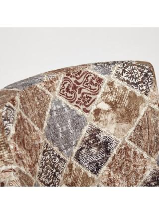 Кресло KNEZ Бук, 650*650*600, ножки: белый, ткань: бежево-серый (mega-office 20)
