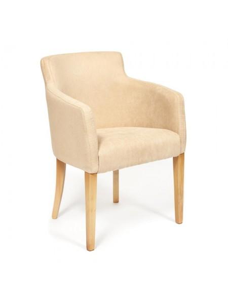 Кресло KNEZ Бук, 650*650*600, ножки: натуральный , ткань: бежевый (panda 18)