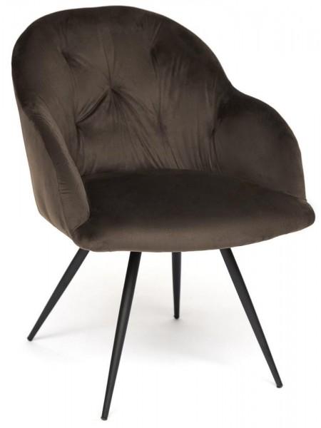 Кресло LIVORNO ( mod.1602 ) металл/ткань, 67х57х82см, серый вельвет