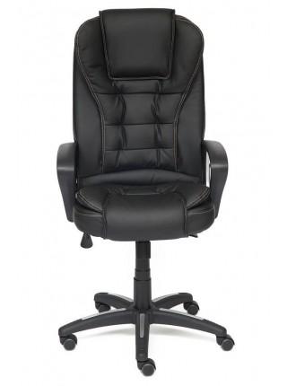Кресло BARON Обивка: материал - искусственная кожа, цвет - черный+черный перфорированный, 36-6+36-6/06