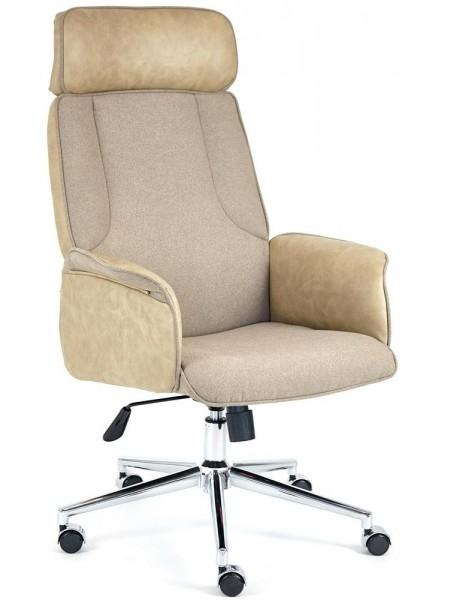 Кресло CHARM экошерсть/кож/зам, коричневый/бежевый, 4203