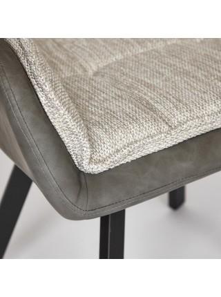 Кресло VISTA ( mod. DС5067 L) металл/ткань/PU, 63*66*84 см, бежевый/черный