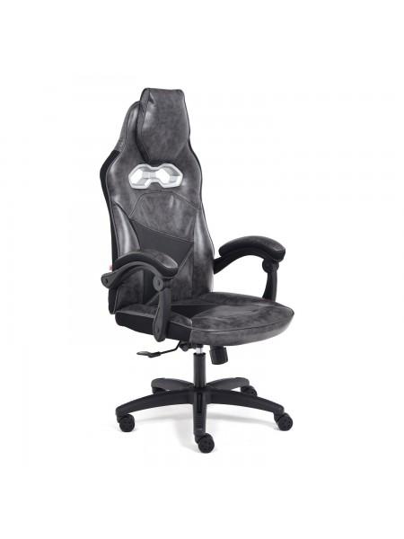 Кресло ARENA кож/зам, серый/черный, 2 tone серый/карбон черный
