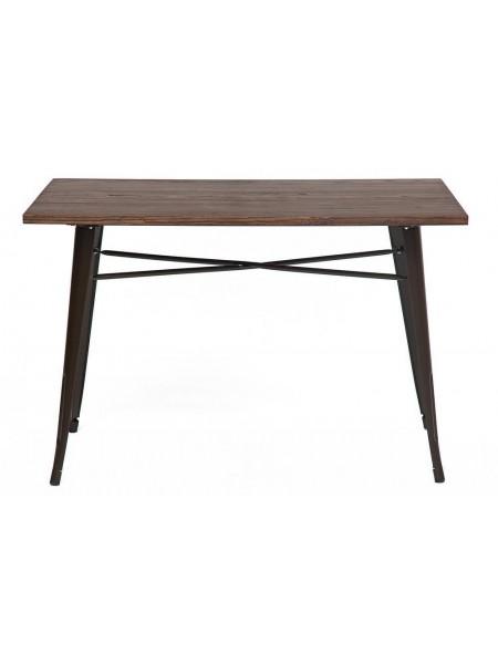 Стол Secret De Maison LOFT металл/столешница дерево, 120*80*78 cm, коричневый/brown