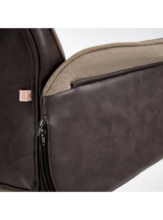 Кресло CHARM экошерсть/кож/зам, коричневый/коричневый , 4230