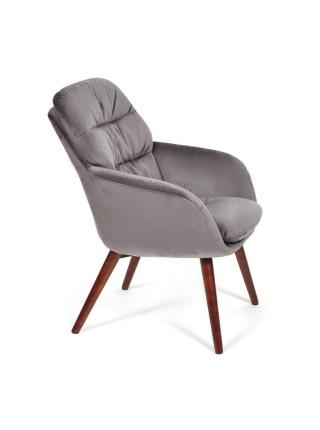 Кресло ORFEI (mod. DM4156) дерево, ткань, 65*75*87, серый (28-grey)