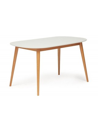 Стол обеденный MAX (Макс) Цвет: белый+натуральный