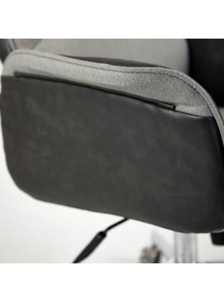 Кресло CHARM экошерсть/кож/зам, серый/черный, 4231
